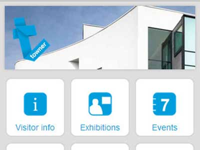 Towner Art Gallery. Design & development of a mobile website for an art gallery in Eastbourne, East Sussex